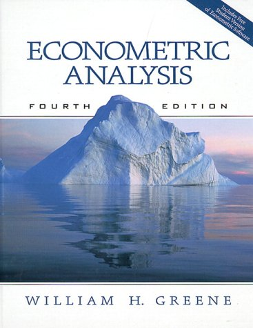 9780130132970: Econometric Analysis 4th Edition incl. CD Rom