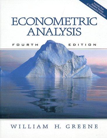 9780130132970: Econometric Analysis (4th Edition)