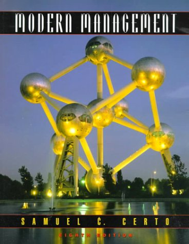 9780130133076: Modern Management (8th Edition)