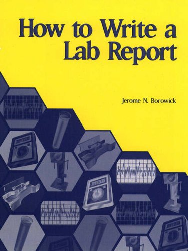 9780130135629: How to Write a Lab Report