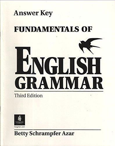 Fundamentals English Grammar Ans Key Sup