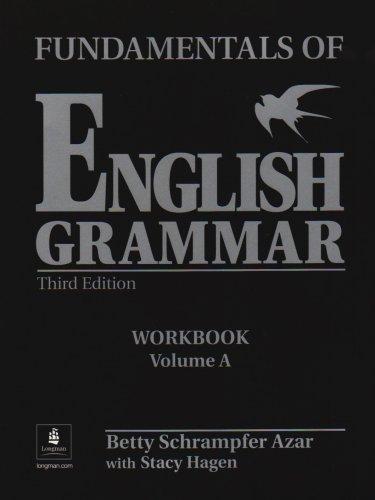 9780130136473: Fundamentals of English Grammar: Workbook with Answer Key, Vol. A