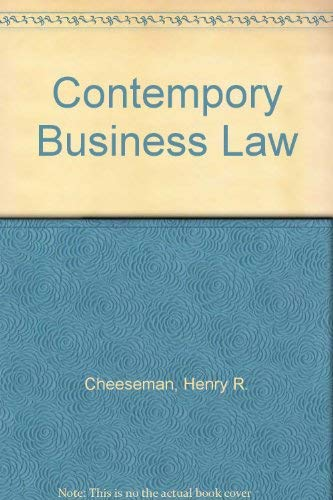 9780130137425: Contempory Business Law
