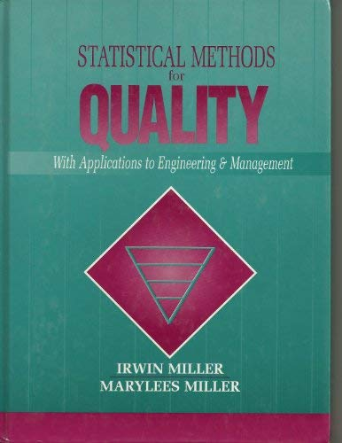 9780130137494: Statistical Methods for Quality: With Applications to Engineering and Management