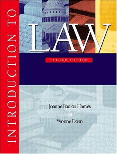 9780130138293: Introduction to Law (2nd Edition)
