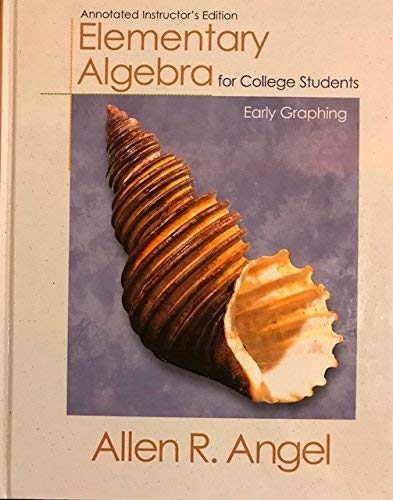 9780130140098: Elementary Algebra for College Students: Early Graphing