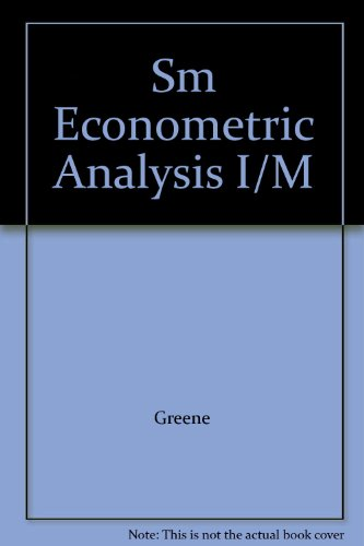 9780130141200: Sm Econometric Analysis I/M