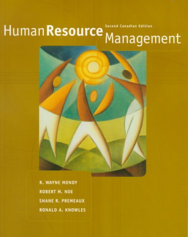 9780130143365: Human Resource Management, Canadian Edition (2nd Edition)