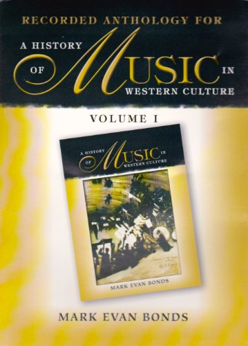 9780130143525: History of Music in Western Culture, Vol. 1