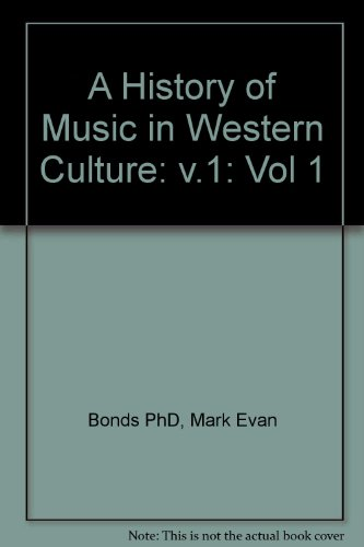 9780130143570: Anthology of Music in Western Culture, Vol. 1