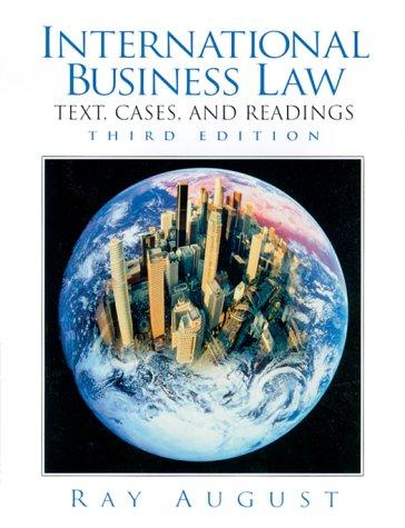 9780130143778: International Business Law (3rd Edition)