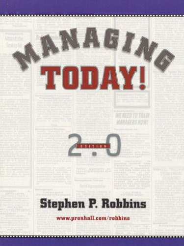 9780130143853: Managing Today!: International Edition