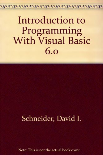 9780130144959: Introduction to Programming With Visual Basic 6.0