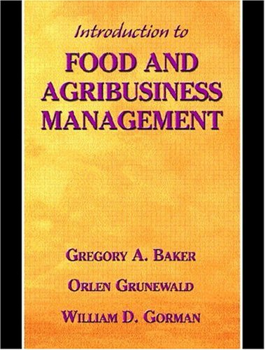 9780130145772: Introduction to Food and Agribusiness Management
