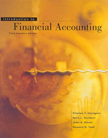 9780130146359: Introduction to Financial Accounting, Canadian Edition