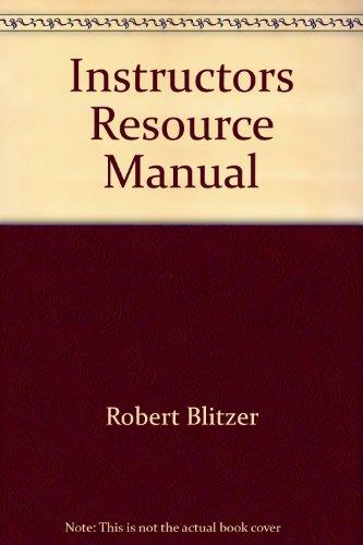 9780130149367: Instructors Resource Manual