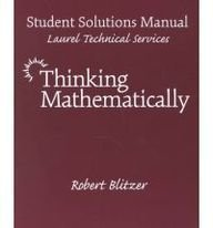 9780130149381: Thinking Mathematically
