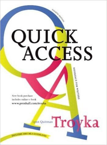 9780130151278: Simon and Schuster Quick Access Reference for Writers