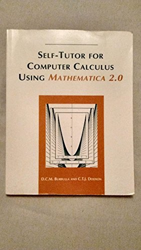 9780130152800: Self-tutor for Computer Calculus Using Mathematica 2.0