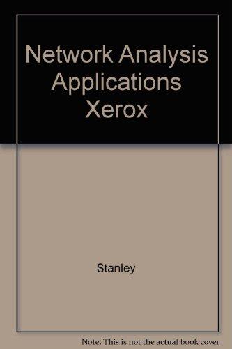 9780130154811: Network Analysis Applications Xerox