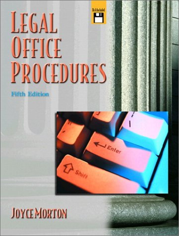 9780130155979: Legal Office Procedures (5th Edition)