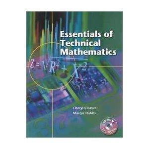 9780130156723: Essentials of Technical Mathematics