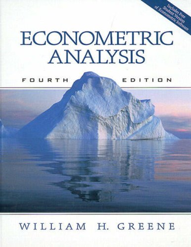 9780130156792: Econometric Analysis