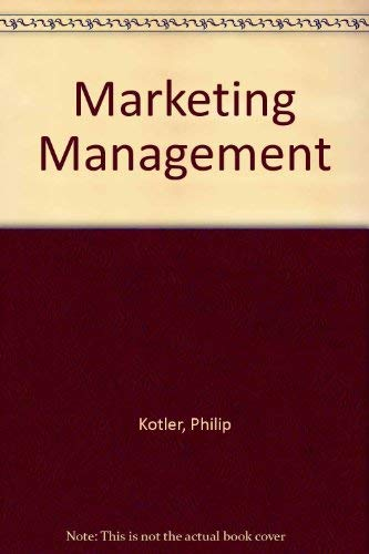 9780130158567: Marketing Management