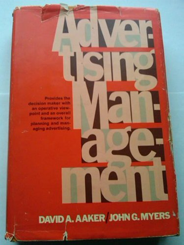 9780130159748: Advertising Management (International Series in Management)