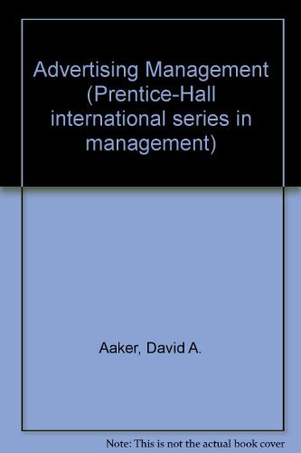 9780130160065: Advertising Management (Prentice-Hall international series in management)