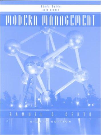 9780130161680: Modern Management