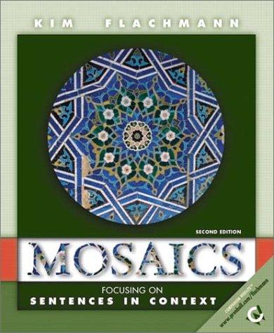 9780130163141: Mosaics: Focusing on Sentences (Mosaics (Upper Saddle River, N.J.).)