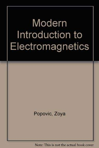 9780130165718: Modern Introduction to Electromagnetics