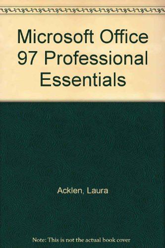 9780130165923: Microsoft Office 97 Professional Essentials