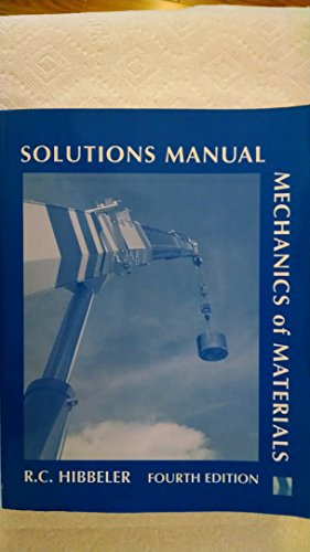 9780130166159: Mechanics of Materials: Solutions Manual, 4th Edition