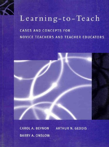 9780130166555: Learning-to-Teach: Cases and Concepts for Novice Teachers and Teacher Educators