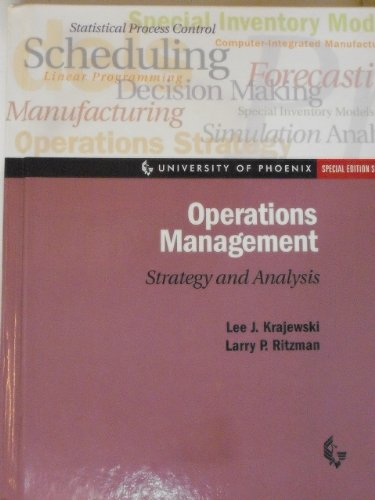9780130167224: Operations Management: Strategy and Analysis (University of Phoenix Special Edition Series)