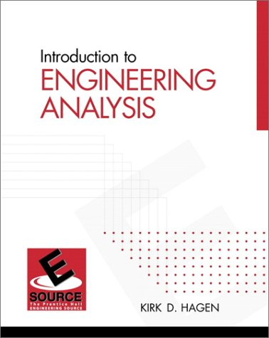 9780130167330: Introduction to Engineering Analysis