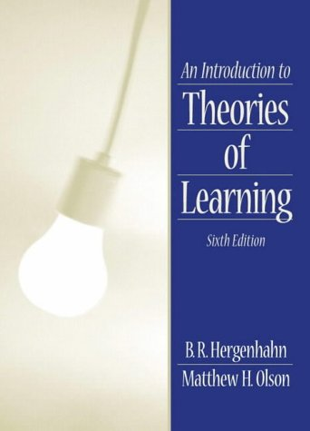 9780130167354: An Introduction to Theories of Learning