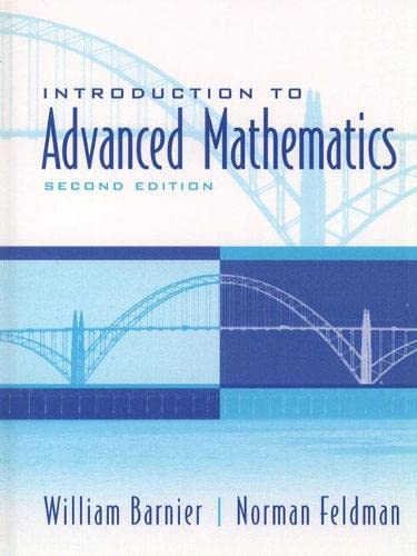 9780130167507: Introduction to Advanced Mathematics (2nd Edition)