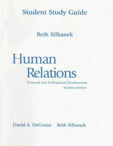 9780130167873: Student Study Guide for Human Relations: Personal and Professional Development