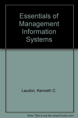 9780130170118: Essentials of Management Information Systems
