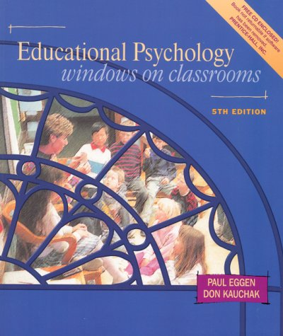 9780130171764: Educational Psychology: Windows on Classrooms (5th Edition, Book & CD-ROM)