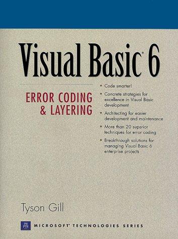 9780130172273: Visual Basic 6: Error Coding and Layering