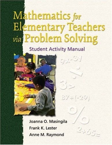 9780130173454: Mathematics for Elementary Teachers via Problem Solving