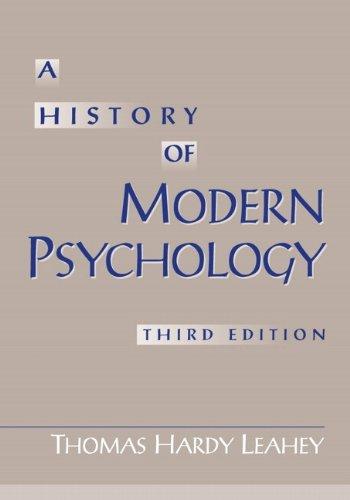 9780130175731: A History of Modern Psychology