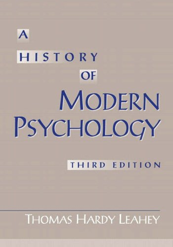9780130175731: A History of Modern Psychology
