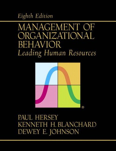9780130175984: Management of Organizational Behavior: Leading Human Resources (8th Edition)