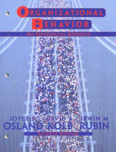 9780130176103: Organizational Behavior: An Experiential Approach