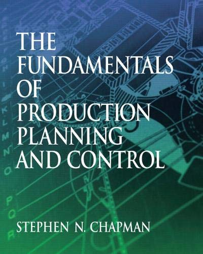 9780130176158: The Fundamentals of Production Planning and Control